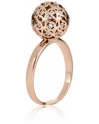 Sonal Bhaskaran | Svar Rose Gold Sphere Ring Clear Cz | Lyst