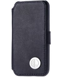 Drew Lennox - Iphone Se 5 5s Luxury English Leather Phone Wallet With 3 Card Slots In Verglas Black - Lyst