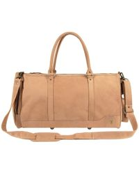 MAHI - Leather Columbus Holdall Duffle Weekend/overnight Bag In Vintage Cognac - Lyst