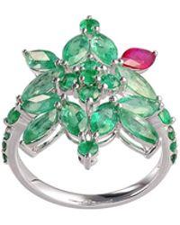 Joana Salazar - Emerald Blossom Ring - Lyst