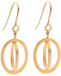 Nancy Rose Jewellery - Gold Plated Ellipse Hook Earrings - Lyst