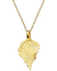Chupi - The Sweetest Thing Tiny Raspberry Leaf Necklace Gold - Lyst