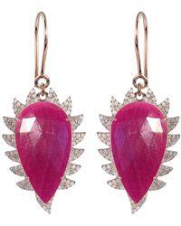 Meghna Jewels - Ruby & Diamonds - Lyst