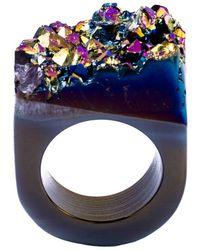 Tiana Jewel - Ember Metallic Blue Ring Moro Collection - Lyst