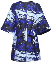 Ardent & Co - Blue Jacquard Coat - Lyst