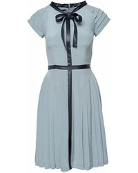 SHOPYTE - Oxydized Green Silk Dress - Lyst