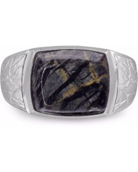 LMJ - Grey Picture Jasper Stone Ring - Lyst