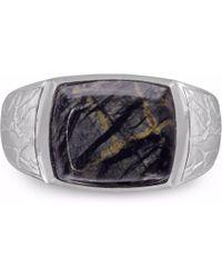 LMJ - Grey Picture Jasper Stone Ring - Lyst