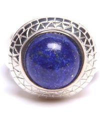 Puck Wanderlust - Silver Lapis Lazuli Power Ring - Lyst