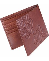 Drew Lennox - Luxury English Leather Men's Billfold Wallet In Non-embossed Rich Brown - Lyst