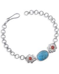 Emma Chapman Jewels - Aztec Coral Turquoise Bracelet - Lyst