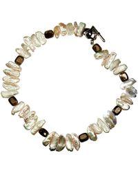 Xanthe Marina - Biwa Pearl Collar Necklace - Lyst