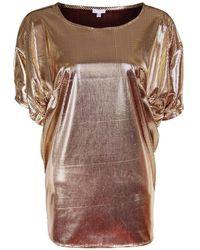 A - M M - E - Drape Top In Gold & Brown - Lyst