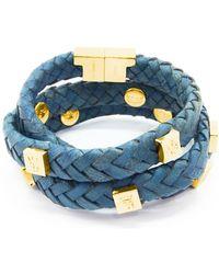 Tissuville - Brio Bracelet Royal Blue Gold - Lyst