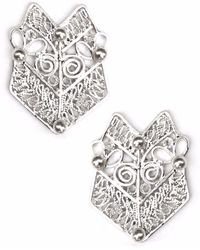 Kitik Jewelry - Ika Silver Earrings - Lyst