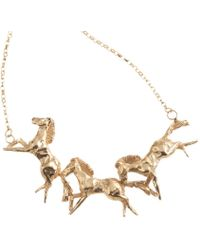 By Emily - Galloping Horse Necklace - Lyst