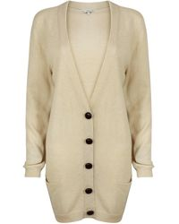 A - M M - E - Long Light Cashmere Cardigan In Camel - Lyst