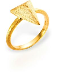 Ona Chan Jewelry - Triangle Ring Gold - Lyst