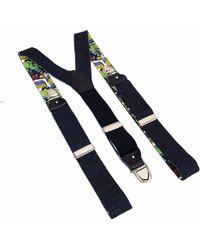 40 Colori - Blue Donegal Wool Braces - Lyst