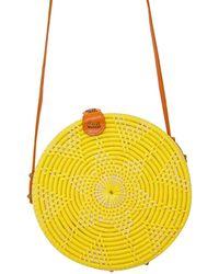 Soi 55 Lifestyle - Cantik Round Bali Bag / Lemon - Lyst