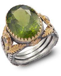 Emma Chapman Jewels - Orisha Peridot & Diamond Ring - Lyst