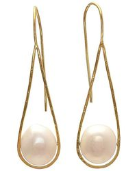 Carousel Jewels - Cradled Pearl Earrings - Lyst