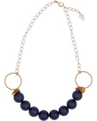 Magpie Rose - Statement Black Onyx Necklace - Lyst