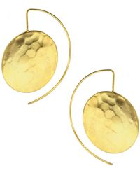 Ottoman Hands - Statement Disc Wire Through Earrings - Lyst