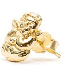 Serge Denimes - Gold Cherub Stud - Lyst