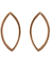 Edge Only - Marquise Slice Drop Earrings In 14ct Gold - Lyst