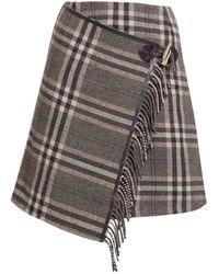 Rumour London - Isla Checked Wool Blend Mini Skirt - Lyst