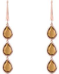 Latelita London Sorrento Triple Drop Earrings Rose Gold Amethyst Zzwes9RAc