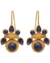 Carousel Jewels - Intricate Lapis Heritage Earrings - Lyst