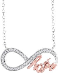Cosanuova - Infinity Hope Necklace In 10k White Gold (.10ct) - Lyst