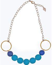 Magpie Rose - Turquoise & Lapis Luzuli Necklace - Lyst
