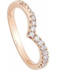 Sarah Ho - Sho - Vita Diamond Set Spiral Stacking Ring - Lyst
