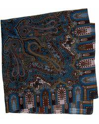 40 Colori - Blue Vintage Paisley Printed Wool Bandana - Lyst
