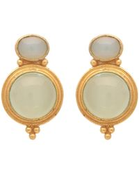 Carousel Jewels - Gold & Chalcedony Curio Earrings - Lyst