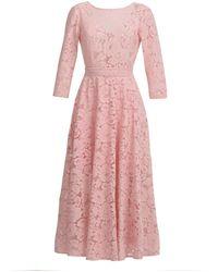 MATSOUR'I - Lace Dress Vicktoria Rose - Lyst