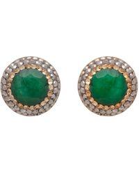 Carousel Jewels - Emerald Corundum Studs - Lyst