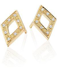 Senin - Infinity Diamond Shaped Stud Earring - Lyst