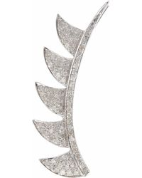 Meghna Jewels - Claw Ear Cuffs Sterling Silver & Diamonds - Lyst