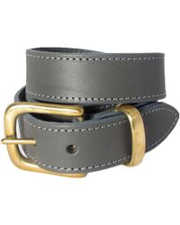 N'damus London - The Orion Grey Belt Brass Buckle - Lyst