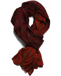 lords of harlech - Ombré Paisley Scarf In Olive - Lyst