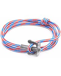 Anchor & Crew | Project-rwb Red White & Blue Union Silver And Rope Bracelet | Lyst