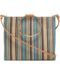 Thacker NYC - Le Pouch In Khaki Stripe And Miel - Lyst