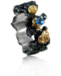 Karolina Bik Jewellery - Scoria Ring With Natural Blue Topaz - Lyst