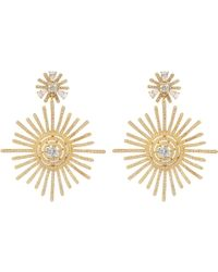 LÁTELITA London - Apollo Statement Sunburst Earrings Gold - Lyst