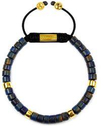 Clariste Jewelry - Men's Ceramic Bead Bracelet Dark Blue And Gold - Lyst