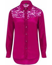 Sophie Cameron Davies   Berry Pink Classic Silk Shirt   Lyst